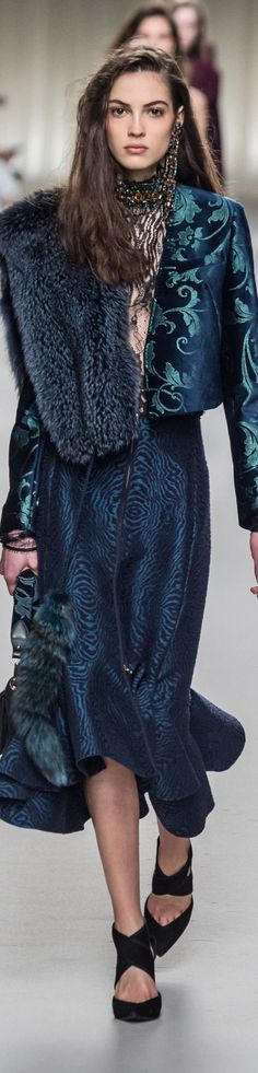 Lanvin fall 2016 RTW  I'm pinning for the textures, colors, combos of the fabrics (jacket lines could be longer)