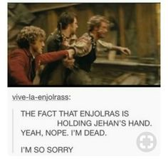 OMG THE WAY ENJOLRAS LOVES HIS FRIENDS❤️
