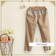 Buy 'Fairyland – Embroidered Cuffed Cropped Pants' with Free International Shipping at YesStyle.com. Browse and shop for thousands of Asian fashion items from China and more!