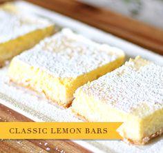 Healthy version of lemon bars, saves lots of calories!
