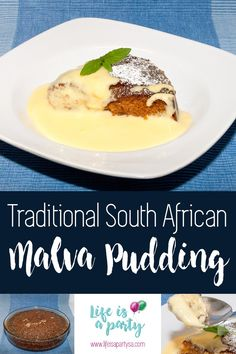 When it comes to traditional South African deserts, Malva pudding is one of our favorite, perfect when served with home made custard or vanilla ice-cream. Malva Pudding, Winter Deserts, South African Recipes, Vanilla Ice Cream, Pudding Recipes, Sweets, Homemade, Traditional, Desserts