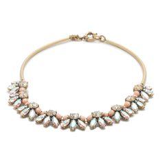J.Crew women's crystal bar necklace.