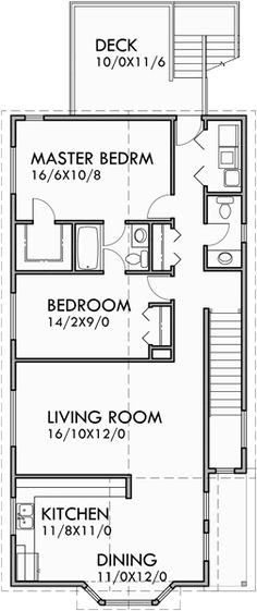 Duplex floor plan with roof deck ideas for the house for Stacked duplex floor plans