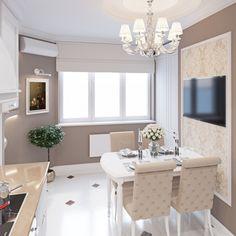 Интерьер, Классический, Кухня, дизай интерьера,дизайн,интерьер 1-комнатной квартиры,интерьер квартиры,классика в интерьере,