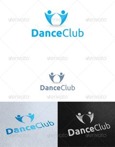 Dance Club Logo Template — Photoshop PSD #beauty #social • Available here → https://graphicriver.net/item/dance-club-logo-template/2737887?ref=pxcr