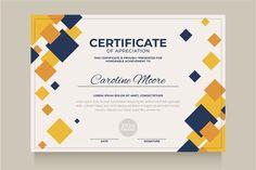 Elegant blue and gold diploma certificate template. Certificate Background, Certificate Frames, Free Certificates, Frame Template, Print Templates, Teaching Maps, Estilo Floral, Certificate Design Template, Make Business Cards