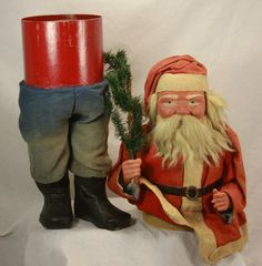 Antique Huge Early German Father Christmas Candy Container C1910 | eBay