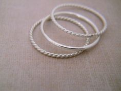 Ring Bands -Silver Rings - Sterling Silver Bands - Sterling Silver Rings - Silver Bands