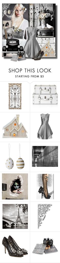 """Oui Oui.....Christmas Is Coming......"" by nz-carla ❤ liked on Polyvore featuring Universal Lighting and Decor, Fantastic Craft, Halston Heritage, Oliver Gal Artist Co. and Dolce&Gabbana"