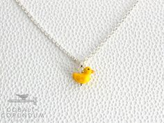 Rubber Duckie a on 925 sterling silver necklace  door cobaltcorundum