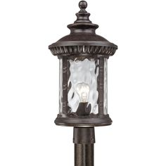 Quoizel Chi9011 Chimera 1 Light 22 Tall Post Lantern With Clear Water Gl Imperial Bronze