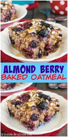 Adding almonds and three kinds of berries give a great texture and flavor to this Almond Berry Baked Oatmeal. Great hot breakfast recipe!