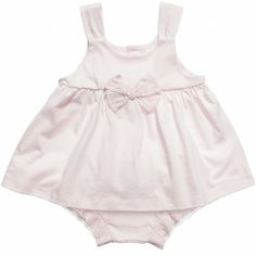 Girls Pink Cotton Jersey Top and Shorts Set