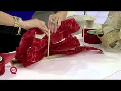@Lisa Robertson QVC makes learning How to Make a Christmas Bow easy with this great DIY video! #QVCHoliday