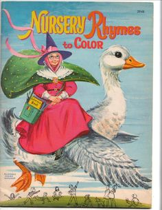 ''Nursery Rhymes to Color'', ill. Florence Sarah Winship 1961 | eBay
