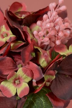 """11"""" HYDRANGEA PICK WITH BERRY BURGUNDY - GandGwebStore.com has a wide variety of silk flowers for all of your decorative needs."""