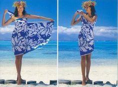 TIE A SARONG AS A ONE-SHOULDER DRESS Sarong Dress, Tie Dress, Sarong Wrap, Sarong Tying, Wrap Bathing Suit, One Shoulder Dress Long, Scarf Knots, Beach Wrap, The Beach