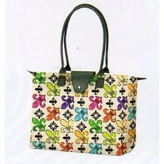 Long handle fold-up tote made from microfiber d6032746f6167