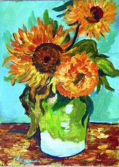 Sun Flowers; Vincent Van Gogh   (R) #art #gingerooklive #gingercookstuios