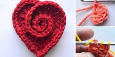 crochet flowers We all love to crochet flowers and clearly crocheting roses is one of the most frequent choices we take. We also love to crochet some hearts as well and I believe that Crochet Puff Flower, Crochet Flower Patterns, Crochet Motif, Easy Crochet, Crochet Flowers, Crochet Granny, Crochet Daisy, Crochet Appliques, Crochet Stitch
