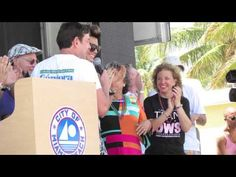 ADAM LAMBERT Receives the Key to the City of Miami, Miami Pride 4-14-2013