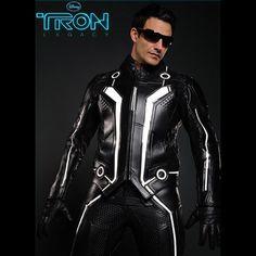 UD REPLICAS TRON Legacy Sam Flynn Leather Motorcycle Jacket SZ SM Cosplay NEW