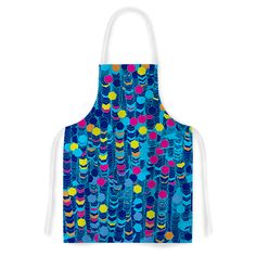 Color Hiving Blue by F eric Levy-Hadida Navy Artistic Apron