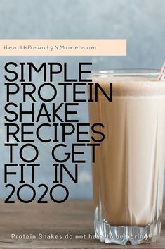 Looking to add more protein to your diet in Try these recipes for a yummy snack or pre-workout shake. Includes four recipes that only use 3 ingredients. Easy Protein Shakes, Protein Shake Recipes, Healthy Lifestyle Tips, Healthy Tips, Healthy Recipes, Healthy Protein, Healthy Drinks, Health And Fitness Articles, Health And Wellness