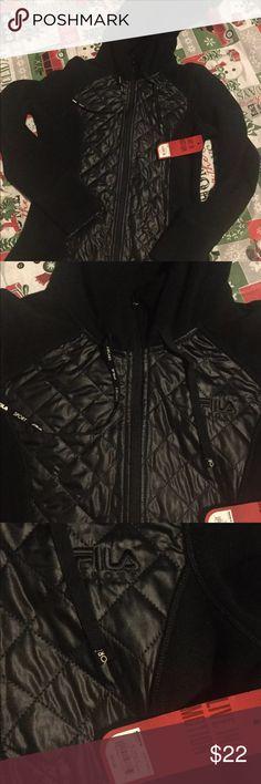 Fila Extra Small Warm lined black jacket New Fila Sport Ladies Size xtra Small Warm lined black jacket New with tags Fila Jackets & Coats
