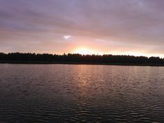 No catch but a great evening sun..