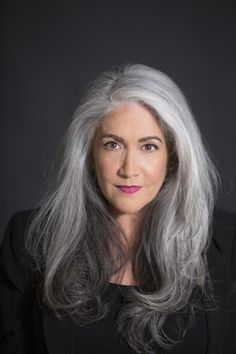 Salt and pepper gray hair. No d… Salt and pepper gray hair. No dye. Aging and going gray gracefully. Long Gray Hair, Grey Wig, Silver Grey Hair, White Hair, Going Gray Gracefully, Peinados Pin Up, Silky Hair, Purple Hair, Textured Hair
