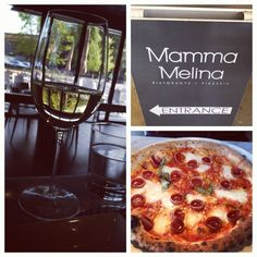 """One of the best happy hours in Seattle! @MammaMelina #seattle #happyhour - Wine for $3, pizza for $6."""""""