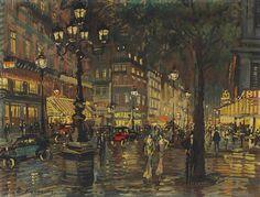 A night Paris,Konstantin Korovin. Russian (1861 - 1939)