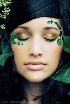 Mother Nature/ Nymph Halloween Makeup Tutorial | Halloween make up ...
