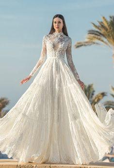 Wedding Dress Buttons, Wedding Dress Sleeves, Bridal Wedding Dresses, Designer Wedding Dresses, Bridal Style, Dresses Elegant, Lace Dresses, Elegant Bride, Silhouette