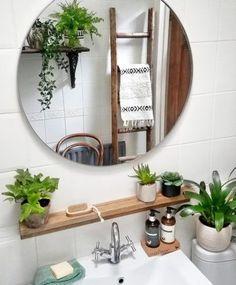 Bad Inspiration, Bathroom Inspiration, Boho Bathroom, Small Bathroom, Bathroom Plants, Bathroom Ideas, Dream Bathrooms, Bathroom Goals, Bathroom Interior Design