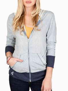 Flow397.com   Katmai Hooded Fleece Navy Stripes   $52.97