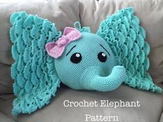 Take a look at this beautiful Josefina Crochet Elephant Pillow, what a gorgeous design it is. This would be so cute on a rocking chair in a nursery.