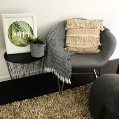A nice relaxing spot in our spare bedroom for our guests Ottoman, Blanket, Chair, Bedroom, Nice, Furniture, Home Decor, Style, Swag