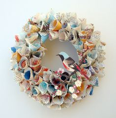 paper wreath #crafts