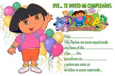 Invitaciones De Cumpleaños De Dora La Exploradora Para Fondo De Pantalla 7  en HD Gratis