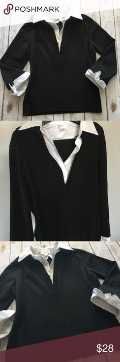LOFT - Gorgeous Layered Black/White Top, Medium LOFT - Gorgeous Layered Black/White Top, women's size Medium. In  fantastic like new condition, no issues to mention please be sure to check out all of my other boutique items to bundle and save. Same day or next business day shipping is guaranteed. Reasonable offers will be considered! LOFT Tops