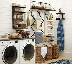 Kellan Wall-Mount Storage Organizer | Pottery Barn... If only my laundry room had more space!