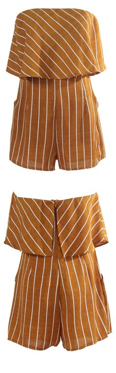 Off Shoulder Beach Shorts Jumpsuit,so lovely and easy to wear. More cute pieces at WealFeel.COM
