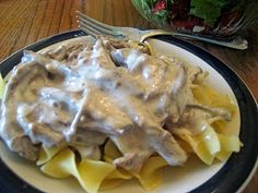 Beef Roast Stroganoff (great idea for two meals - beef roast, then leftovers for the stroganoff)