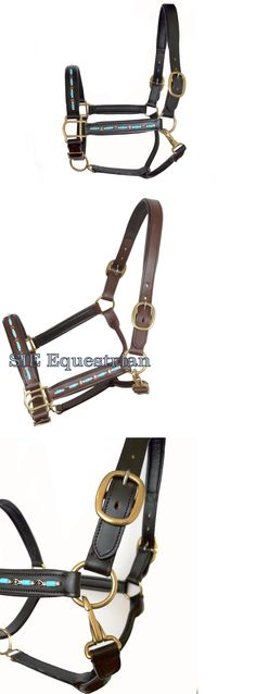 Halters 139601: Turquoise Beads Studded Padded Leather Halter - Full Cob -> BUY IT NOW ONLY: $39.5 on eBay!