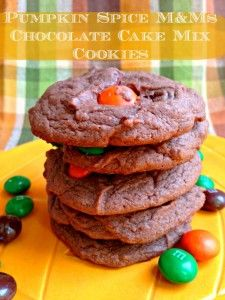 Pumpkin Spice M&Ms Chocolate Cookie Recipe | This Mama Loves