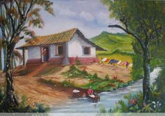 lavandera Dolphin Painting, Z Arts, Borders And Frames, God Pictures, Naive Art, African Art, Landscape Art, Folk Art, Beautiful Places