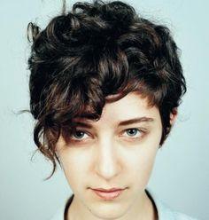 Curly Asymetric Pixie Haircut
