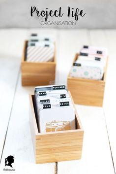 Frühjahrsputz - Project Life Karten Organisation - Wie Project Life Karten sortieren und aufbewahren - Aufbewahrung mit Ikea Boxen - DRAGAN Aufbewahrungsideen | relleomein.de
